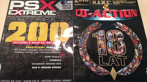 Czcigodni jubilaci... 18 lat CD Action, 200 numerów PSX Extreme