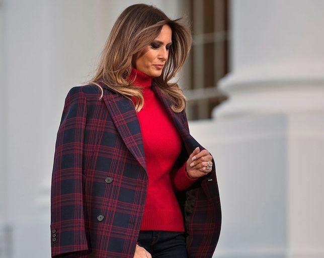 Melania Trump w najmodniejszym płaszczu sezonu. Znaleźliśmy bardzo podobne!