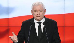 Jarosław Kaczyński podczas konferencji prasowej