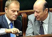 Premier Donald Tusk i minister finansów Jacek Rostowski