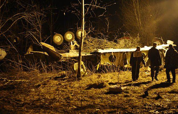 10 kwietnia 2010 roku, szczątki tupolewa w Smoleńsku