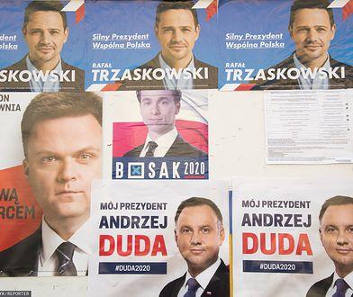 Wyniki wyborów 2020. Plakaty wyborcze 4 kandydatów na prezydenta (zdj. arch.)