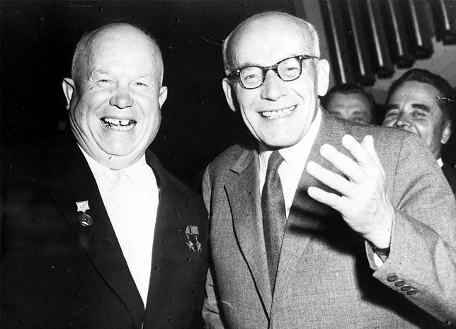 Nikita Chruszczow i Władysław Gomułka