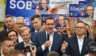 Premier Mateusz Morawiecki podczas spotkania z wyborcami