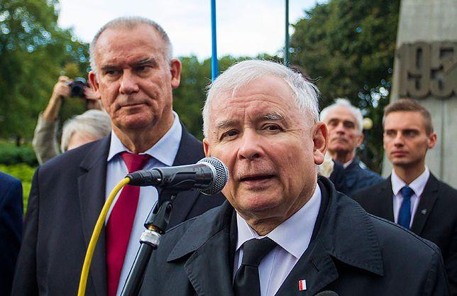 Jarosław Kaczyński i poseł PiS Tadeusz Dziuba.