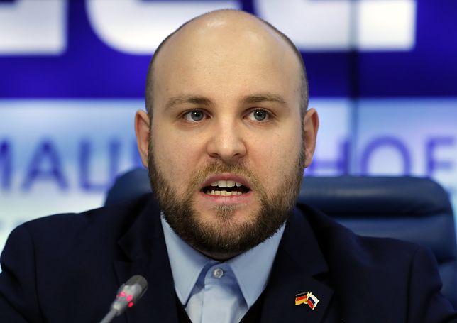 Markus Frohnmaier, niemiecki poseł Alternatywy dla Niemiec (AfD)