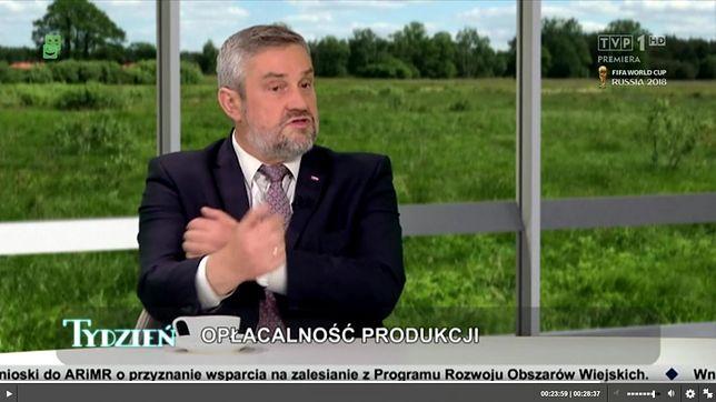 Zagraniczne firmy pokazują rolnikom gest Kozakiewicza - powiedział i pokazał minister rolnictwa