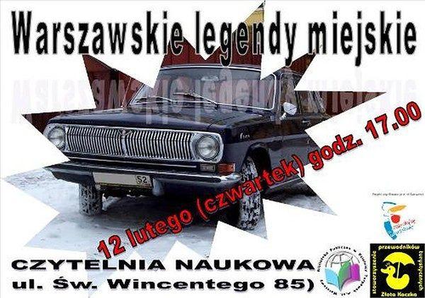Warszawskie legendy miejskie - opowieść pełna grozy w Czytelni Naukowej