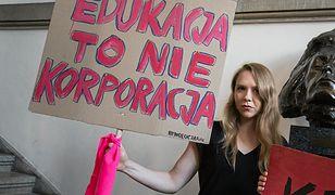 Maja Staśko protestuje