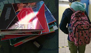 Same książki i zeszyty, które pakuje do plecaka córka pani Aleksandry, ważą ponad 4 kg. Na zdjęciu plecak starszej córki, Michaliny