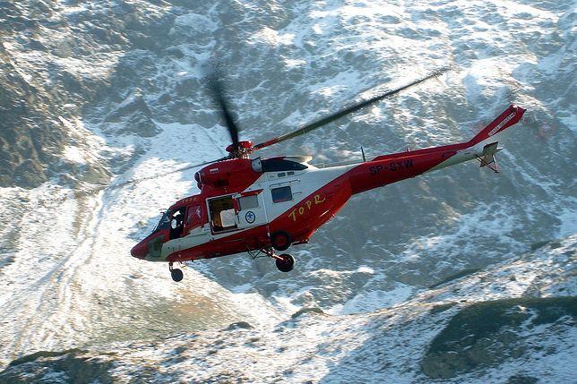 Lawina śnieżna w Tatrach. Ratownicy TOPR poszukiwali turysty
