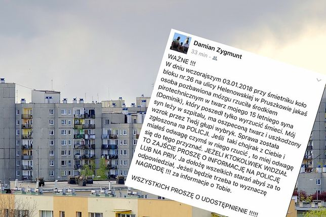 Na jednym z pruszkowskich blokowisk doszło do tragedii