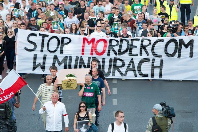Wrocławski marsz przeciwko brutalności policjantów