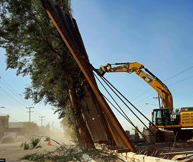 USA. Budowa muru Donalda Trumpa na granicy z Meksykiem