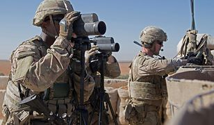 Amerykańscy żołnierze w Manbidż w północnej Syrii
