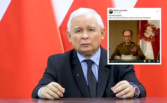 Monika Jaruzelska porównała Kaczyńskiego do swojego ojca