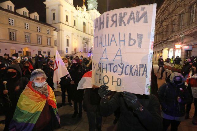 Warszawa. Demonstracja z walczącymi na Białorusi