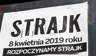 Strajk nauczycieli, Szkola Podstawowa nr. 85 im. Benito Juareza, Mokotow, ul. Narbutta, Warszawa, 08.04.2019 r./EastNews