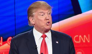 Donald Trump podczas debaty Republikanów