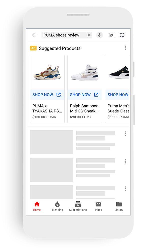 Nowe reklamy produktów na YouTubie, fot. Google.
