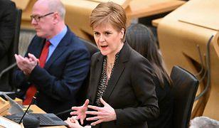 Edynburg. Przewodnicząca autonomicznego rządu Szkocji Nicola Sturgeon