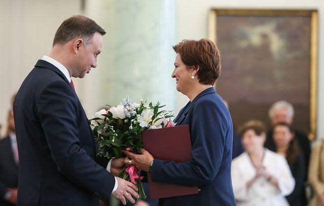 Andrzej Duda i Halina Szymańska