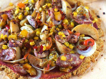 Pizza na spodzie z kiszonej kapusty