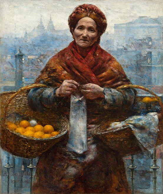 Żydówka z pomarańczami Aleksandra Gierymskiego. Jeden z odzyskanych polskich obrazów