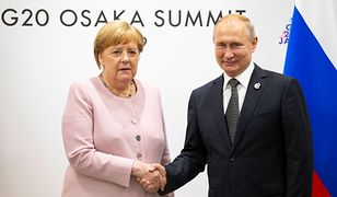Od lewej: kanclerz Niemiec Angela Merkel oraz prezydent Rosji Władimir Putin (zdj. arch.)