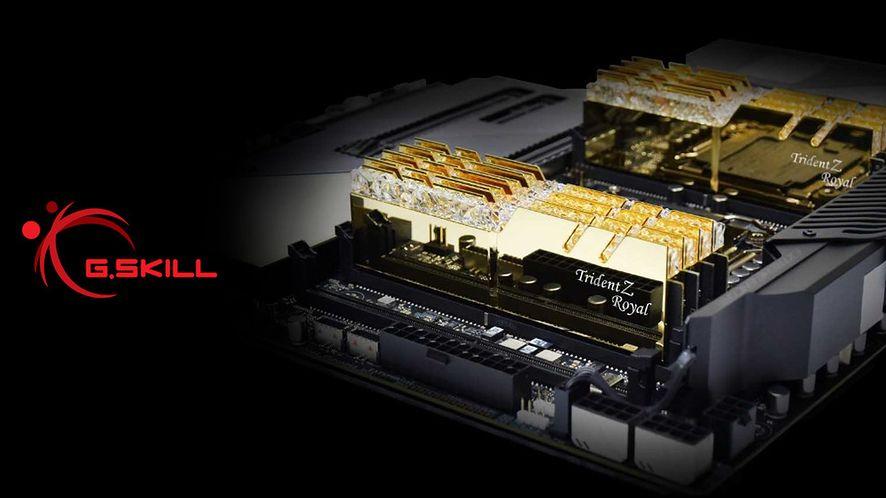 G.SKILL Trident Z Royal Gold w wersji DDR4-4300MHz i 4000MHz.