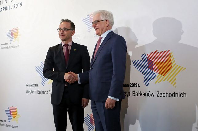 Heiko Maas i Jacek Czaputowicz
