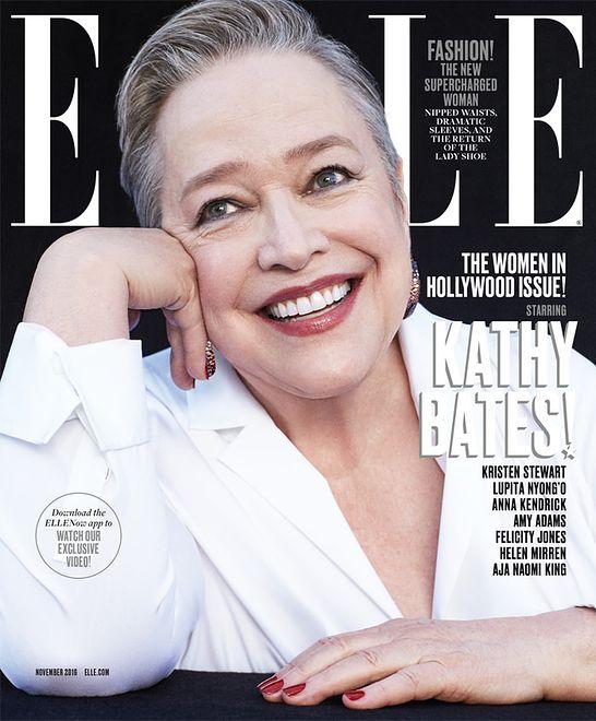 """Kathy Bates na okładce """"Elle US"""""""