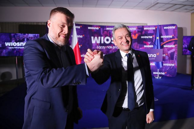 Lider Partii Razem Adrian Zandberg (L) oraz Robert Biedroń (P) - zdj. arch.