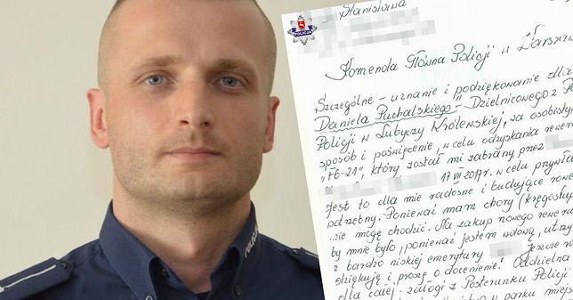 Policjant odzyskał rower 58-latki. Pani Stanisława napisała wzruszający list