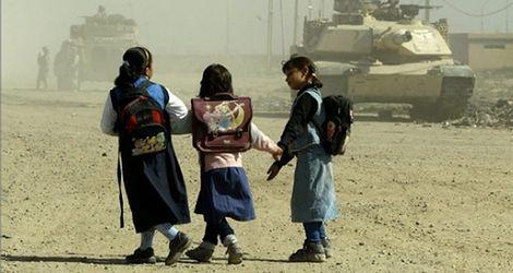 Irackie dzieci niższe przez wojnę
