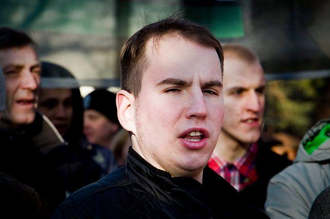 Adam Andruszkiewicz na Marszu Pamięci Żołnierzy Wyklętych w Białymstoku