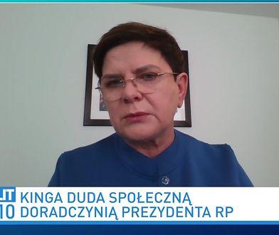 """Beata Szydło pytana o syna. """"Hejt, który spadł na moją rodzinę, był nieuprawniony i bolesny"""""""