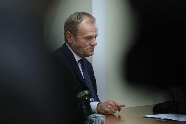 Donald Tusk w trakcie przesłuchania przed komisją śledczą