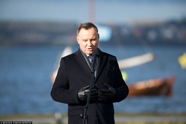 Andrzej Duda został wygwizdany w Pucku