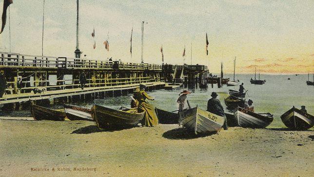 Molo w Sopocie na pocztówce z przełomu XIX i XX wieku