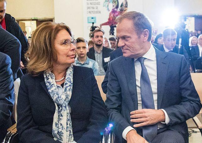 Wybory parlamentarne 2019. Małgorzata Kidawa-Błońska i Donald Tusk