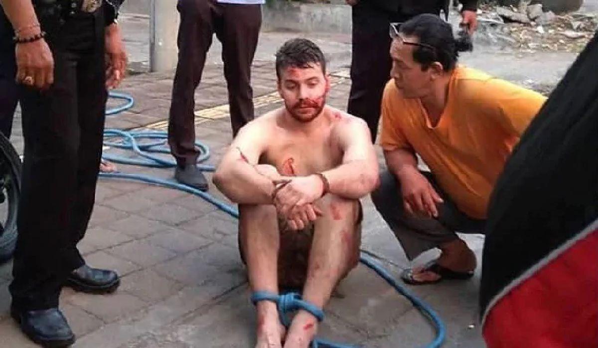 Pijany turysta zaatakował motocyklistę na Bali. Udostępniono nagranie