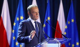 Wystąpienie Donalda Tuska w Warszawie.
