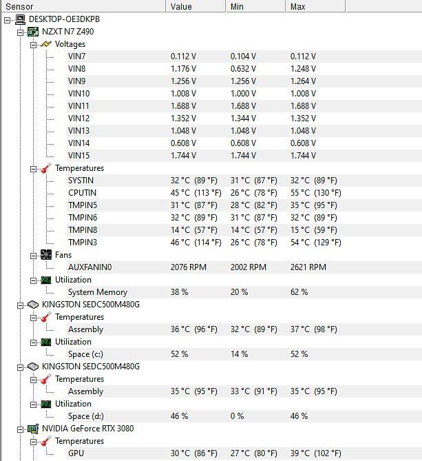 Procesor bez OC - pół dnia nieprzerwanej pracy.