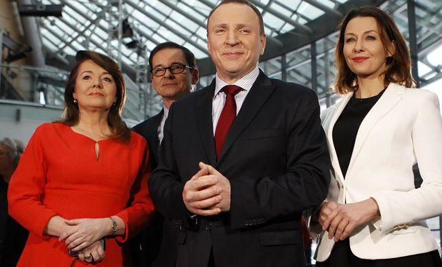 Jacek Kurski z gwiazdami TVP
