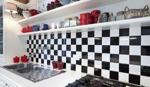 Modne ściany w kuchni - galeria inspiracji
