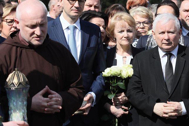 Ojciec Zdzisław Tokarczyk (z lewej) i Jarosław Kaczyński