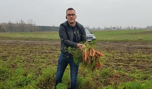Łukasz Gębka robi biznes z Lidlem na ekologicznych warzywach