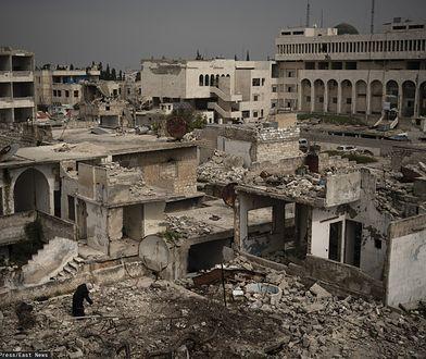Miasto Idlib w Syrii.