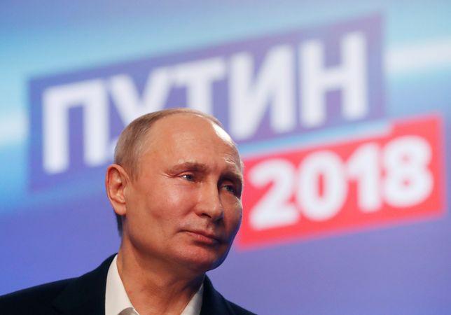 Władimir Putin w wyborach prezydenckich w 2018 r. zdobył 76,65 proc. głosów